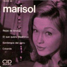 Discos de vinilo: MARISOL - EP SINGLE VINILO 7'' - EDITADO EN FRANCIA - REJAS DE BRONCE + 3 - CID 1964. Lote 49480819