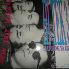 Discos de vinilo: HI TEK 3 - SPIN THAT WHEEL - MAXI SINGLE A 45 R.P.M. - PROMOCIONAL- ORIGINAL ESPAÑOL - CBS 1989 -. Lote 49485264