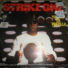 Discos de vinilo: STRIKE ONE - TOMATE LA PASTILLA - MAXI SINGLE A 45 R.P.M. - ORIGINAL ESPAÑOL - BLANCO Y NEGRO 1994.. Lote 49486016