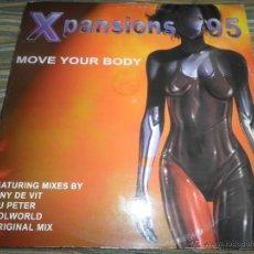 Discos de vinilo: XPANSIONS 95 - MOVE YOUR BODY - MAXI A 45 R.P.M. - ORIGINAL INGLES - BMG RECORDS 1995 -. Lote 49486274