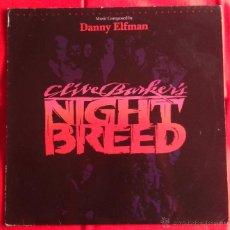 Discos de vinilo: DANNY ELFMAN - CLIVE BAKER'S NIGHTBREED -RAZAS DE NOCHE- (LP). Lote 49489154