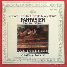 Discos de vinilo: J.S. BACH, C.P.E. BACH, W.F. BACH, W.A. MOZART, COLIN TILNEY - FANTASIEN (FANTASIAS) (LP). Lote 49494019