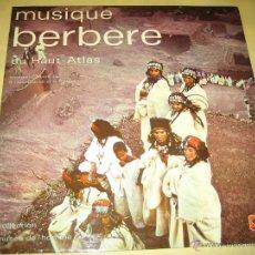 Disques de vinyle: MUSIQUE BERBERE - CARPETA DOBLE CON FOTOS EN EL INTERIOR - ED. FRANCESA 1971. Lote 49494100