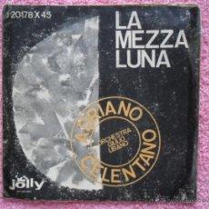 Discos de vinilo: ADRIANO CELENTANO 1960 JOLLY 20178 LA MEZZA LUNA DISCO VINILO. Lote 49495313