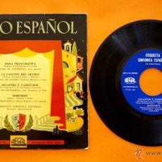 Discos de vinilo: DISCO DE VINILO - TEATRO ESPAÑOL - DOÑA FRANCISQUITA - CANCION DEL OLVIDO -. Lote 49520845