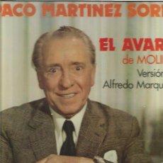 Discos de vinilo: PACO MARTINEZ SORIA EL AVARO. Lote 49521298