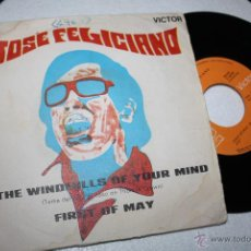 Discos de vinilo - JOSÉ FELICIANO The windmills of oyur mind / First of May RCA VICTOR 3-10423, 1969 -- EXC - 49526403