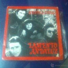 Discos de vinilo: LAMENTO ANDALUZ - JORDAN ROCIERO + FARO DE LUZ Y GUIA (SEVILLANAS). Lote 49539789