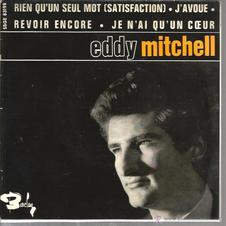 EP EDDY MITCHELL : J´AVOUE + RIEN QU´UN SEUL MOT ( ROLLING STONES SATISFACTION ) + 2 (Música - Discos de Vinilo - EPs - Canción Francesa e Italiana)