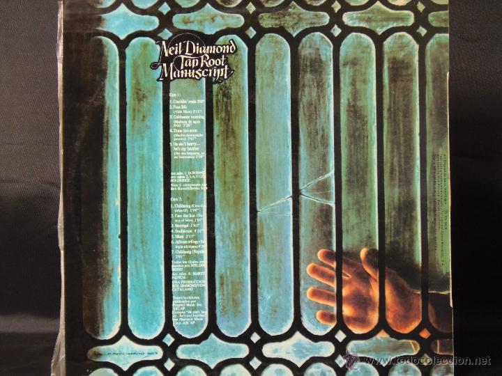 Discos de vinilo: NEIL DIAMOND TAP ROOT MANUSCRIPT EDICION ESPAÑOLA 1973 - Foto 2 - 49545416