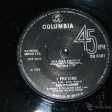 Discos de vinilo: DES O´CONNOR I PRETEND / THINKING OF YOU COLUMBIA DB8397, 1968 --- EXC. Lote 49562339
