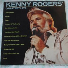 Discos de vinilo: KENNY ROGERS ( GREATEST HITS ) USA-1980 LP33 UNITED ARTISTS RECORDS. Lote 49565313