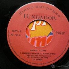 Discos de vinilo: EP FUNDADOR LOS MISMOS NUEVOS EXITOS VER FOTOS TITULOS 1970.. Lote 49566398