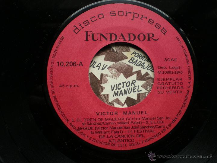 EP FUNDADOR VICTOR MANUEL VER FOTOS TITULOS 1970 (Música - Discos de Vinilo - EPs - Solistas Españoles de los 70 a la actualidad)