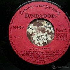 Discos de vinilo: EP FUNDADOR VICTOR MANUEL VER FOTOS TITULOS 1970. Lote 49566435