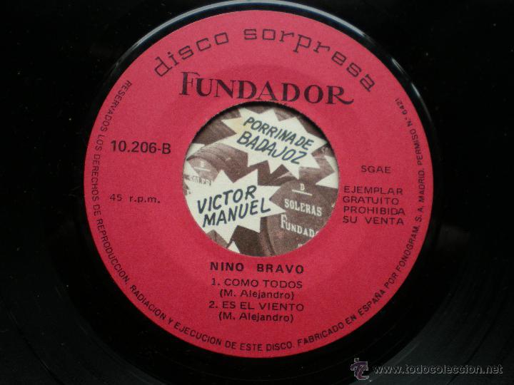 Discos de vinilo: EP FUNDADOR VICTOR MANUEL VER FOTOS TITULOS 1970 - Foto 2 - 49566435