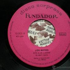 Discos de vinilo: EP FUNDADOR LOS MITOS VER FOTOS TITULOS 1970. Lote 49566708