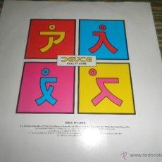 Discos de vinilo: DEUCE - CALL IT LOVE - MAXI 33 R.P.M. - ORIGINAL INGLES - LONDON RECORDS 1994 -. Lote 49571904