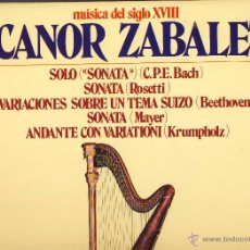 Vinyl records - MUSICA DEL SIGLO XVIII.- NICANOR ZABALETA.- - 49572039