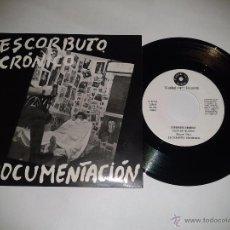 Discos de vinilo: ESCORBUTO CRONICO, DOCUMENTACIÓN. PUNK CANARIAS AÑOS 80 SINGLE VINILO NUEVO REEDICIÓN AÑOS 2000 (C2). Lote 72797941
