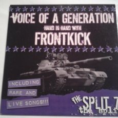 Discos de vinilo: VOICE OF A GENERATION VS FRONTKICK, THE SPLIT. EP VINILO NUEVO PUNK ROCK OI AÑO 2003 LIMITED (C4). Lote 115135063