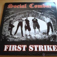 Discos de vinilo: SOCIAL COMBAT, FIRST STRIKE - RAREZA EDICIÓN ESPECIAL EN VINILO LP AÑO 2002 NUEVO SIN ESTRENAR (C1). Lote 53391663