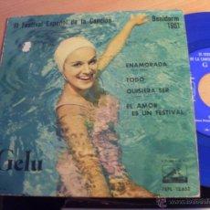Discos de vinilo: GELU III FESTIVAL CANCION BENIDORM 1961 (ENAMORADA + 3) EP ESPAÑA 1961 VINILO AZUL (EX+/EX) (EP12). Lote 49593355