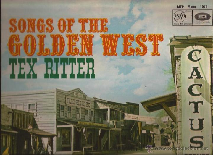 Discos de vinilo: LP-TEX RITTER SONG OF THE GOLDEN WEST EMI MFP 1076-UK 1961-COUNTRY - Foto 1 - 49598008