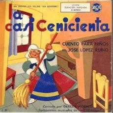 Discos de vinilo: SINGLE LA CASI CENICIENTA : CUENTO PARA NIÑOS ( MUSICA MANUEL PARADA, CANTA GRACITA MORALES ). Lote 49599770