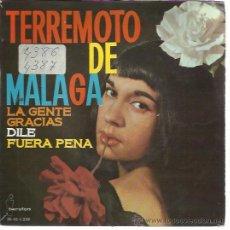 Discos de vinilo: TERREMOTO DE MALAGA EP IBEROFON 1964 PROMO LA GENTE/ GRACIAS/ DILE (TELL HIM) +1 GUIJARRO ALGUERO. Lote 49600191