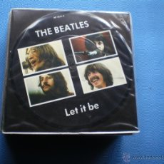 Discos de vinilo: THE BEATLES LET IT BE/YOU KNOW MY NAME SINGLE UK 1982. PICTURE DISC EDICION LIMITADA 20TH PDELUXE. Lote 49601577