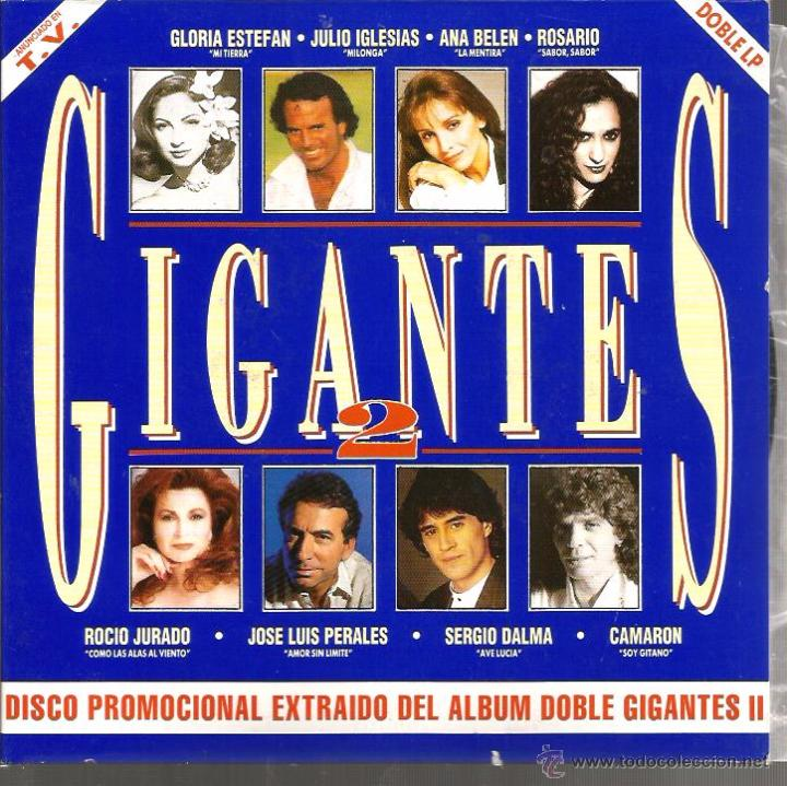DOBLE SINGLE GIGANTES : 1. GLORIA STEFAN 2. LOS PANCHOS 3. JOSE LUIS PERALES 4. JULIO IGLESIAS (Música - Discos de Vinilo - Maxi Singles - Solistas Españoles de los 70 a la actualidad)