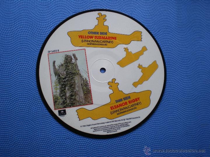 THE BEATLES YELLOW SUBMARINE/ELEANOR RIGBY SINGLE UK 1982.PICTURE DISC EDICION LIMITADA 20TH PDELUXE (Música - Discos - Singles Vinilo - Pop - Rock Extranjero de los 50 y 60)