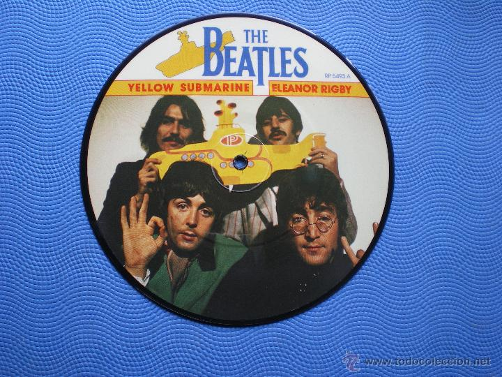 Discos de vinilo: THE BEATLES YELLOW SUBMARINE/ELEANOR RIGBY single uk 1982.PICTURE DISC EDICION LIMITADA 20TH PDELUXE - Foto 2 - 49603118