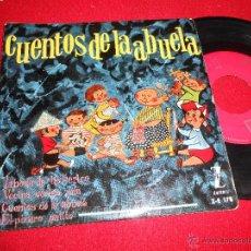 Discos de vinil: CUENTOS DE LA ABUELA BODA TIO PERICO/VECINA MIA/EL PICARO GATITO +1 EP 1960 ZAFIRO ESPAÑA . Lote 49603220