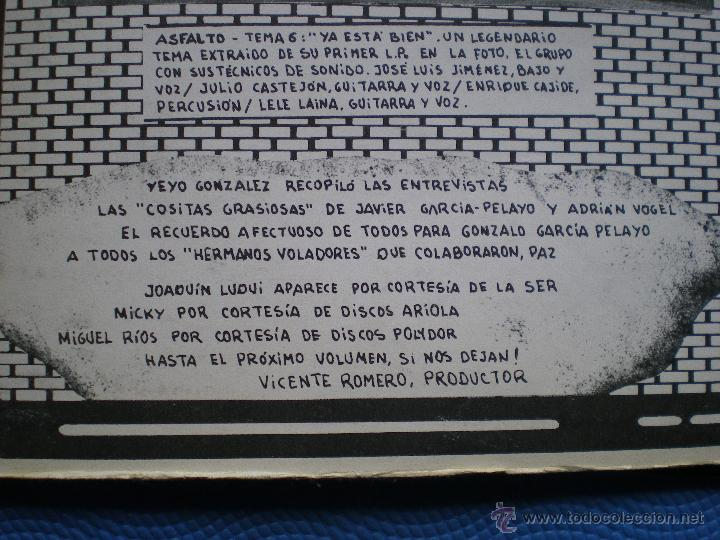 Discos de vinilo: MARISCAL ROMERO & OTROS ROCK DEL MANZANARES. LP 78 ASFALTO LEÑO CUCHARADA UNION PACIFIC ...PDELUXE - Foto 5 - 49614583