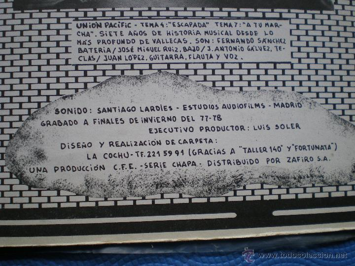 Discos de vinilo: MARISCAL ROMERO & OTROS ROCK DEL MANZANARES. LP 78 ASFALTO LEÑO CUCHARADA UNION PACIFIC ...PDELUXE - Foto 6 - 49614583