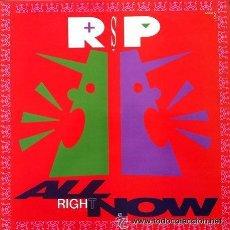 Discos de vinilo: R.S.P. - ALL RIGHT NOW . MAXI SINGLE . 1990 CBS. Lote 49620420