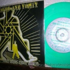 Discos de vinilo: RAISINS AND VOMIT - 4 BANDS FROM DUBLIN 94 !! RARO EP VINILO COLOR VERDE, PUNK IRLANDA, NUEVO. Lote 49633156