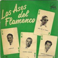 Discos de vinilo: LOS ASES DEL FLAMENCO Nº16 EP ODEON 1958 ANGELILLO/ NIÑA DE LA PUEBLA/ VALDERRAMA/ CARACOL. Lote 49633913