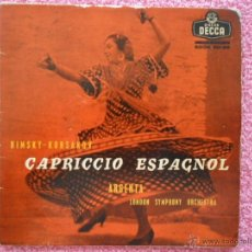 Discos de vinilo: ATAULFO ARGENTA 1959 DECCA 80186 CAPRICCIO ESPAGNOL OPUS 34 LONDON SINPHONY ORCHESTRA. Lote 49636388
