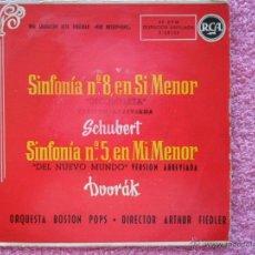Discos de vinilo: ORQUESTA BOSTON POPS SINFONÍA Nº 8 EN SI MENOR RCA 26123 DVORÁK SCHUBERT DISCO VINILO. Lote 49636863
