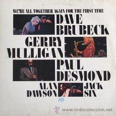 Discos de vinilo: LP JAZZ DAVE BRUBECK, GERRY MULLIGAN, PAUL DESMOND, ALAN DAWSON, JACK SIX. Lote 49640549