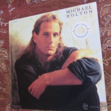 Discos de vinilo: MICHAEL BOLTON- MAXI-SINGLE DE VINILO DE TITULO TIME, LOVE AND TENDERNESS- ORIGINAL DEL 91-4 TEMAS-. Lote 49640723
