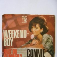 Discos de vinilo: CONNIE FRANCIS SINGLE EN ALEMÁN WEEKEND BOY MUY BUEN ESTADO. Lote 49641064