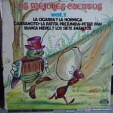 Discos de vinilo: REFERENCIA DISCOS CAJA 123 - DISCO GRANDE - LOS MEJORES CUENTOS LA CIGARRA Y LA HORMIGA, GARBANCITO . Lote 49641489