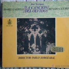 Discos de vinilo: REFERENCIA DISCOS CAJA 123 - DISCO GRANDE - JOSE SERRANO, ISABEL CASTELO LA CANCION DEL OLVIDO, RENA. Lote 49641612