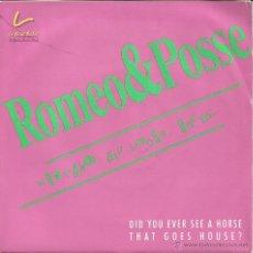 Discos de vinilo: ROMEO & POSEE-MUSTANG HIP HOUSE ROCK + MUSTANG DANCE FLOOR SINGLE VINILO 1990 PROMOCIONAL SPAIN. Lote 49652265