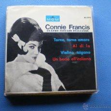 Discos de vinilo: CONNIE FRANCIS AL DI LA + 3 EP SPAIN 1964 PDELUXE. Lote 49658066