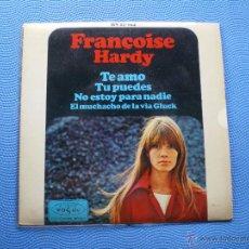 Discos de vinilo: FRANÇOISE HARDY EL MUCHACHO DE LA VIA GLUCK+3 EP SPAIN 1966 PDELUXE. Lote 49658467